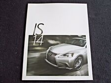 2014 Lexus IS250 IS350 F Sport Brochure IS F Sport 250 350 Sales Catalog