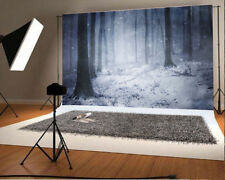 Forest Dusk Snow Scene Background Photo Studio Props Photography Backdrops Vinyl