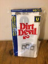 Dirt Devil Type U Vacuum Bags (10-Pack) NEW