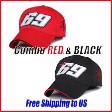 Moto Gp Baseball Cap 69 Race Nicky Hayden Same Paragraph (2pcs RED&BLACK)