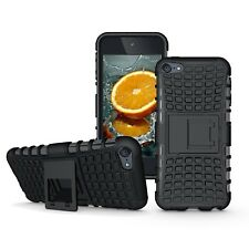 Black Heavy Duty Dual Layer Shockproof Hybrid Rugged Case for iPod Touch 6 Gen