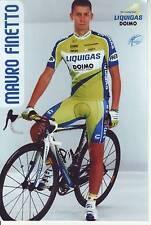 CYCLISME repro PHOTO cycliste  MAURO FINETTO équipe LIQUIGAS DOMO 2010