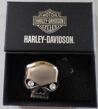 Harley Davidson Women's Willie G Skull Fire Eyes with Rhinestones Buckle New
