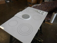 kitchen aid kecd866rw white 36 glass downdraft