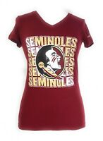 Florida State Seminoles FSU Ladies NCAA Printed Tee Garnet T-Shirt Top S NWT.