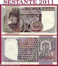 ITALIA ITALY 10.000 10000 LIRE BUSTO D'UOMO CASTAGNO 1982 P 106b QFDS / AUNC