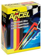 Accel 4040B Universal 8mm Conjunto de Cable de bujía Botas Recto Azul