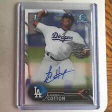 2016 Bowman Chrome Prospect Autograph #CPA-JC Jharel Cotton Auto Dodgers RC