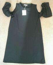 40% de réduction! NEUF: Women's zara volants ouvert à manches robe noire taille S
