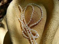 1Strand Vintage 5mm x 3mm White Ivory Fresh Water Pearls OldStock