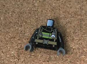 LEGO Black Fireman Torso (76382) Pk1 . Free Postage.