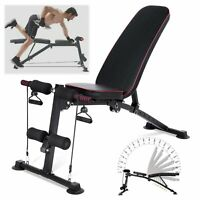 Adjustable Weight Bench Incline Decline Foldable Full Body Workout Gym Fitness