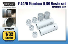 Wolfpack Design 1/32 F-4C/D Phantom II J79 Engine Nozzle Set for Tamiya