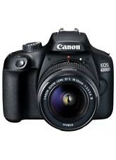 CANON EOS 4000D DSLR Camera with EF-S 18-55 mm f/3.5-5.6 III Lens NEW SEALED UK