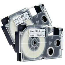 Compatible for Casio XR-9X 9mm 8m Label Tape KL430 Laminated Black on Clear 2pk
