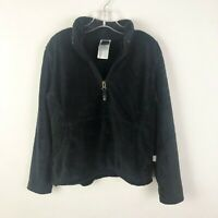 The North Face Girls Size 7 8 Black Fuzzy Pullover Long Sleeve Jacket Sweatshirt