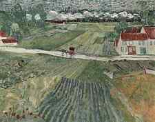 A4 Photo Van Gogh Vincent 1853 1890 Auvers Landscape Die Kunst 29 1914 Print Pos