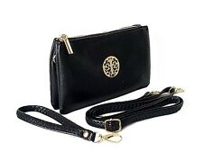 SMALL CLUTCH BAG PURSE WITH WRISTLET LONG ADJUSTABLE STRAP WOMENS HANDBAGS LIGHT