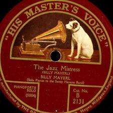 Billy Mayerl-pianoforte-The Jazz mistress/The Jazz Master gomma lacca s7869