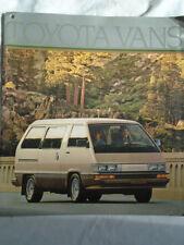 Toyota Vans range brochure 1985 USA market large format