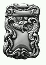 Antique Snake Serpent Sterling Silver Match Safe Vesta Case Roden Brothers