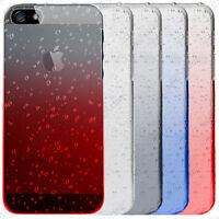 Housse Coque Rigide Slim Gouttelettes Apple iPhone 7 6 6S 6S Plus SE 5S 5 4S 4