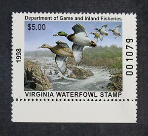 CKStamps: US State Duck Stamps $5 Virginia 1998 Mint NH OG