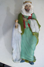 """Vintage One Of 3 Wise Men With Gift For Baby Jesus Nativity 10"""" Tall Figurine"""