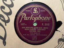 PARLOPHONE 78 RECORD F 3112/PIPE BAND HM 2ND BATTN SCOTS GUARDS/HIGHLAND WEDDING