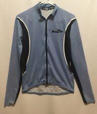 BIEMME CYCLING Shirt MENS SIZE Small Light Blue Black White Stripes Long Sleeve