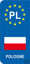 lot 2 Stickers style immatriculation (Vinyl FLAG) Europe Polska POLOGNE