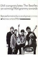 Beatles Ad from 1965 Paul McCartney John Lennon George Harrison Ringo - Postcard