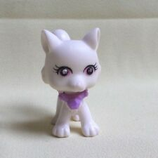 POLLY POCKET - SPARKLIN' PETS MATTEL #65 RENARD BLANC YEUX ROSE COLLIER VIOLET