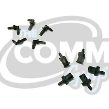 Replacement Black Connector Set For Acoustic Tube Earpiece Headset Earphone Mic