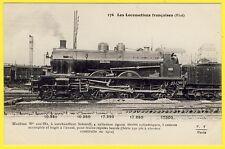 cpa LOCOMOTIVE à VAPEUR (Etat) pour TRAINS RAPIDES LOURDS Construite en 1912