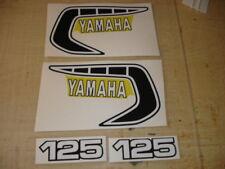 1981 YAMAHA YZ 125 GAS TANK AND SIDE PANEL DECALS AHRMA