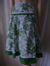 Pleated Machine Washable Knee-Length 100% Cotton Skirts for Women