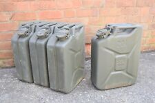 More details for german army 20l fuel cans wide mouth 20 litre diesel petrol jerry can military