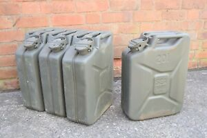 German Army 20L Fuel Cans Wide Mouth 20 Litre Diesel Petrol Jerry Can Military