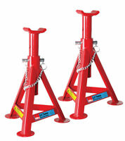 HILKA 3 TON TONNE FIXED AXLE STAND STANDS JACK IN RED HEAVY DUTY NEW