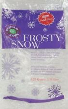 5.25 Qts Buffalo Snow FROSTY FLAKES Bag Christmas quarts Craft Artificial Fake