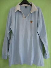 Polo USAP officiel Perpignan Bleu vintage Manche Longue Coton Jersey - L