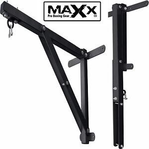 Maxx Heavy Duty 3ft Folding Punch Bag Wall Bracket Steel Mount Hanging Boxing PR