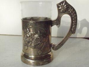 Teeglashalter( ohne Glass und Löffel) Russland, 84 Silber, um 1900.