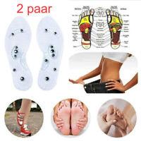 2x Magnetische Massage orthopädische Einlegesohlen mit Akupressur Einlagen DE