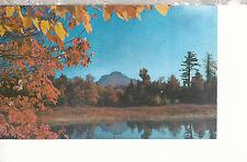 Grandfather Mountain  Autum View Across Lake Kawana  NC Chrome Postcard 1187