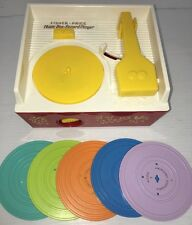Fisher Price 2010 Music Box Record Player with 5 Discs WORKS - SOUNDS GOOD!