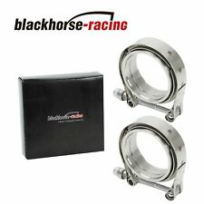 "2 X Universal 3"" Inch Stainless Steel V-Band Turbo Downpipe Exhaust Clamp Vband"