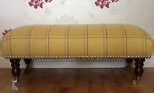 A Quality Long Footstool In Laura Ashley Corby Camomile Fabric
