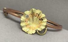 14k Rose Gold Bracelet Diamond Cut Bangle